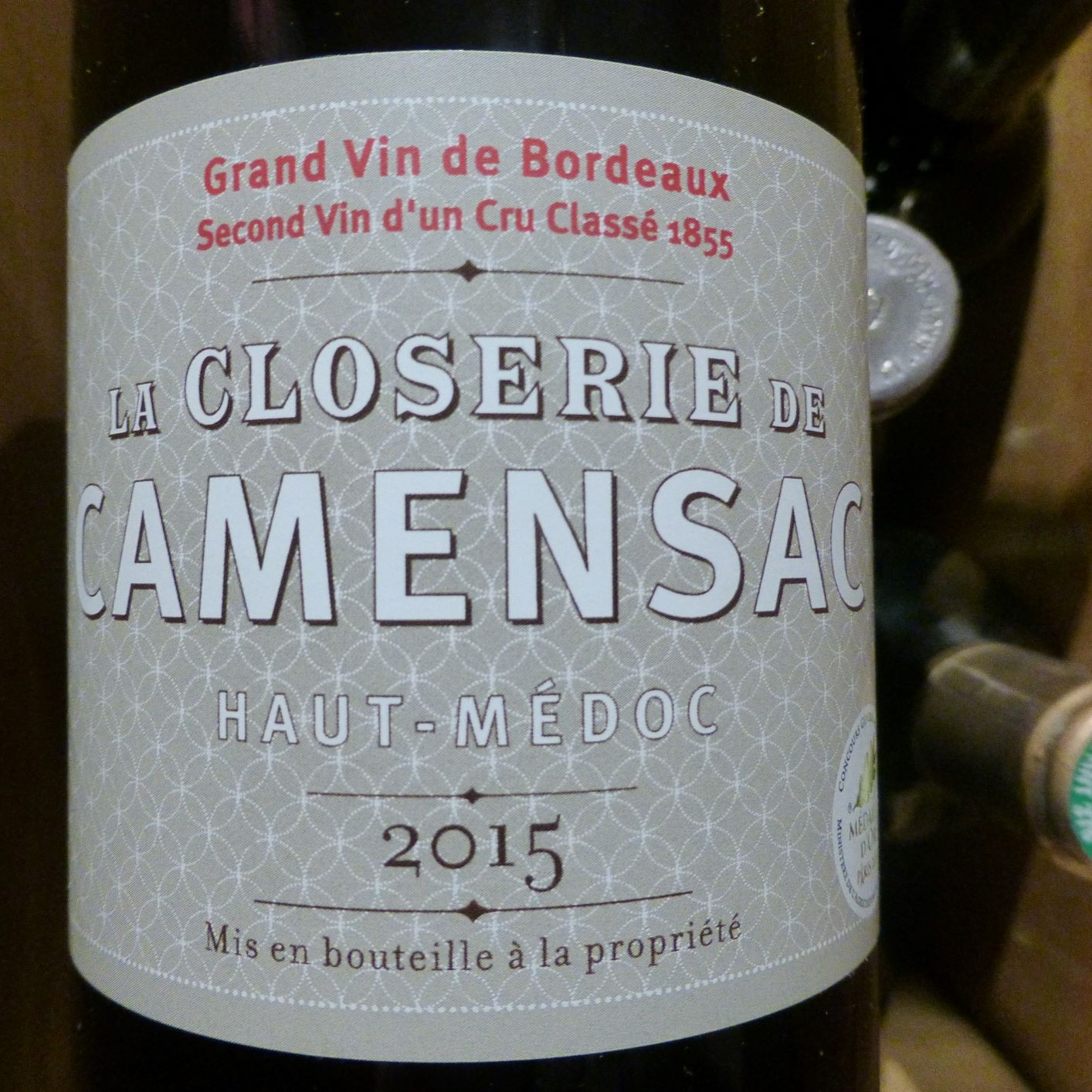 2015 La Closerie de Camensac, Haut-Médoc