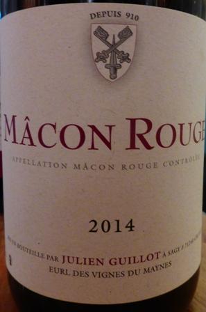 2014 Mâcon Rouge AOC, Julien Guillot