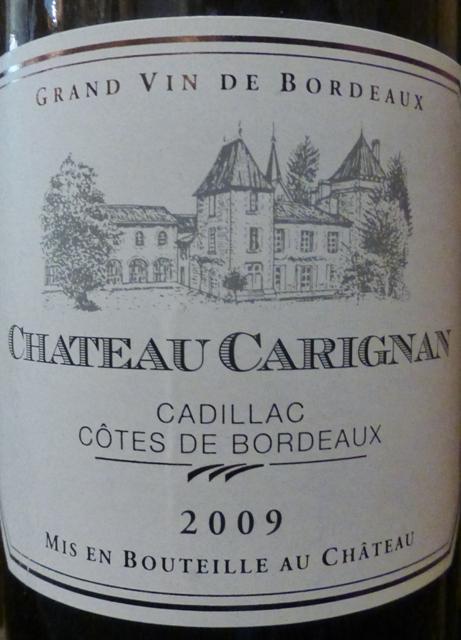 2009 Ch. Carignan Cadillac Côtes de Bordeaux, Magnum